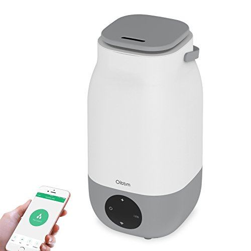 Oittm Wifi Smart Humidifier, 3L Ultrasonic Cool Mist Humidifier Essential Oil Diffuser Works with Amazon Alexa and Google Assistant, Whisper-quiet Waterless Auto Shut-off with Timer for Home Office