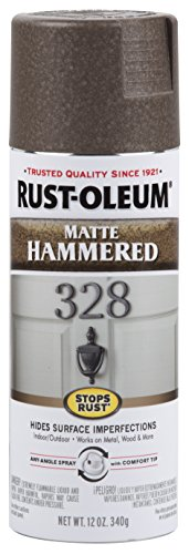 (Rust-Oleum 314418-6 PK Stops Rust Hammered Finish Spray Paint, 6 Pack, Matte Brown)