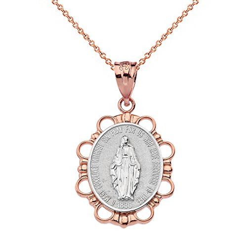 ld Miraculous Medal Of Blessed Virgin Mary Necklace (Small), 16