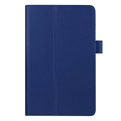 Tiean Leather Case Stand Cover For Amazon Kindle Fire HD 7 2015 Tablet (Dark Blue)