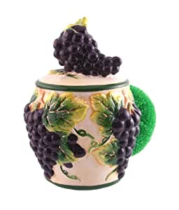 KITCHEN SCRUB,SPONGE HOLDER GRAPE TUSCANY