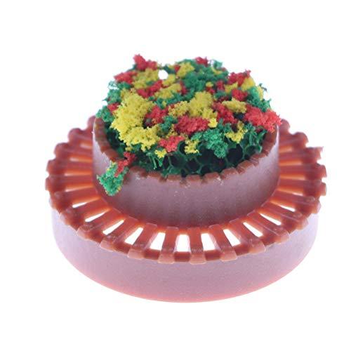 Flower Beds Plants Miniature Landscape Fairy Garden Decor Dollhouse Accessory BH