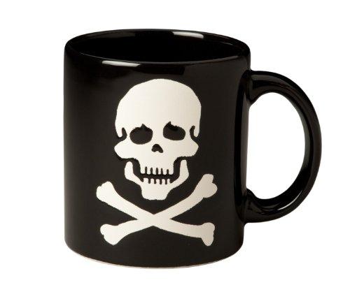 Waechtersbach Mugs, Black Skull, Set of 4