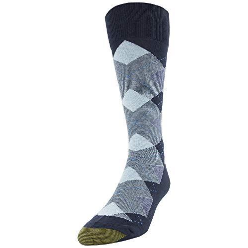 - Gold Toe Men's Fashion Dress Crew Socks, 1 Pair, Navy Andrew's Argyle, Shoe Size: 6-12.5