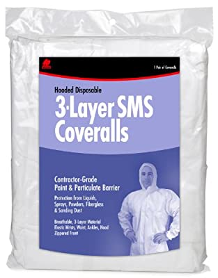Buffalo Industries (68525) Hooded SMS Disposable Coverall - Size Large