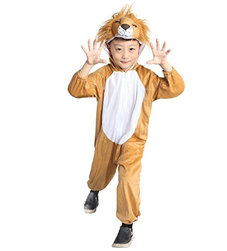 Lion Kids Costumes (Fantasy World Lion Halloween Costume f. Children/Boys/Girls, Size: 5, An73)