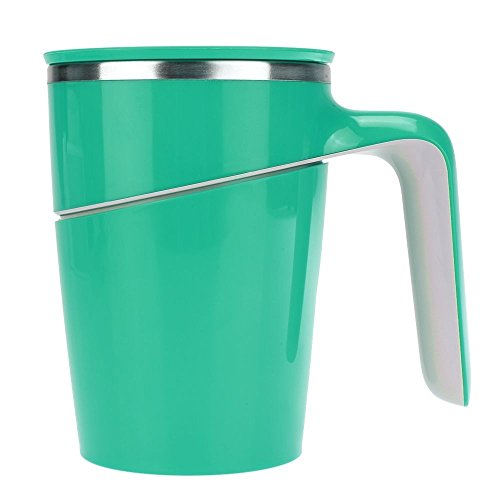Stainless Double Wall Cup Drinking Suction Leakage Proof Capacity Tumbler Green Color