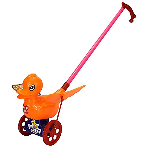 Sealive Baby Walking Education Hand Pushing Pull Duck Toy Cute Push Pull Toys with Wings Pre-Learning Walk Toy Tools Walker for (Elmo Toys Walmart)