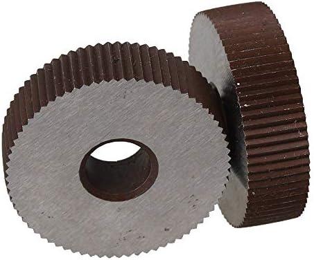 No Logo Rändelfräswerkzeuge 2ST Wälzfräser Stärke 0,3 mm Rad Knurl Straight Grain HSS Rad Knurled Werkzeugmaschinen Zubehör Dreh Prägeradabschnitt Hebt für Metalldrehmaschine
