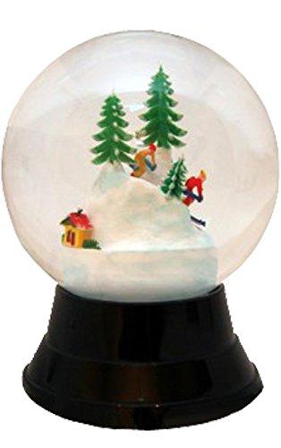 Alexander Taron Importer PR1722 Perzy Decorative Snowglobe with Large Skiers, 7'' x 3'' x 3'' by Alexander Taron Importer