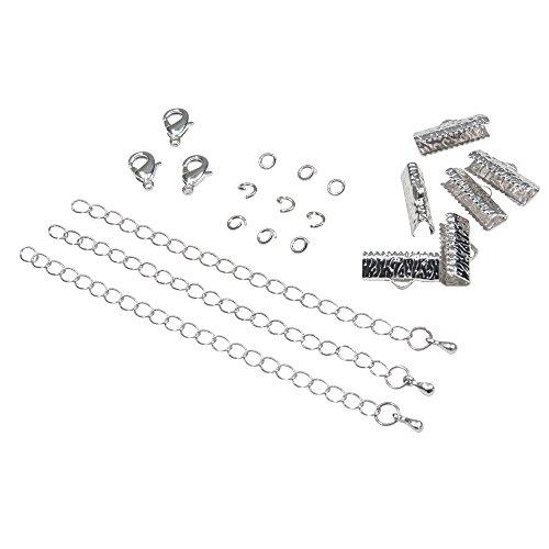"Twilight's Fancy Artisan Series Ribbon Choker or Bracelet Findings Kit (16mm (5/8""), Platinum Silver)"