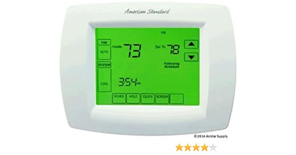 American Standard Multi-Stage Thermostat 7-Day Programmable Touchscreen Thermostat, ACONT802AS32DAA / THT02479 - - Amazon.com