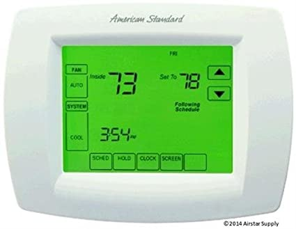 American Standard Multi-Stage Thermostat 7-Day Programmable Touchscreen Thermostat , ACONT802AS32DAA / THT02479