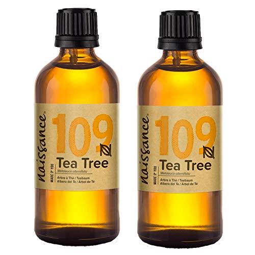 Naissance Aceite Esencial de Arbol de Te n º 109 – 200ml (2x100ml) - 100% Puro, vegano y no OGM