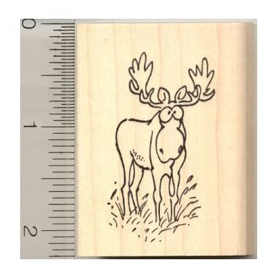 Comic Moose Rubber Stamp: Arts, Crafts & Sewing