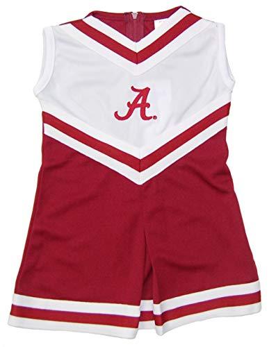 Little King NCAA Toddler/Youth Girls Team Cheer Jumper Dress-Alabama Crimson ()