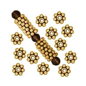 Beautiful Bead 6mm Antique Gold Daisy Spacer Metal Beads for Bracelets DIY Jewelry Making (About 400pcs )