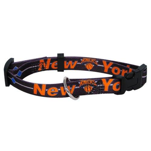 NBA New York Knicks Adjustable Pet Collar, Team Color, Medium