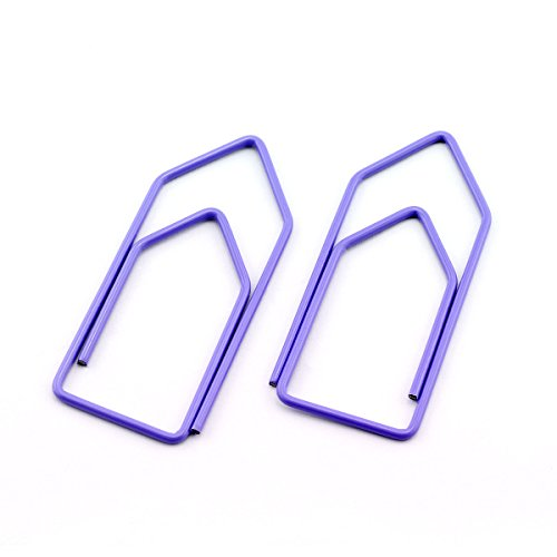 RuiLing 30-Pack Paper Clips,Lavender Creative Shape 2.7 inch Length Great for Paper Clip Collectors Bookmark Document Holder Office School by RuiLing