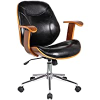 Porthos Home Cormac Adjustable Office Chair, Black