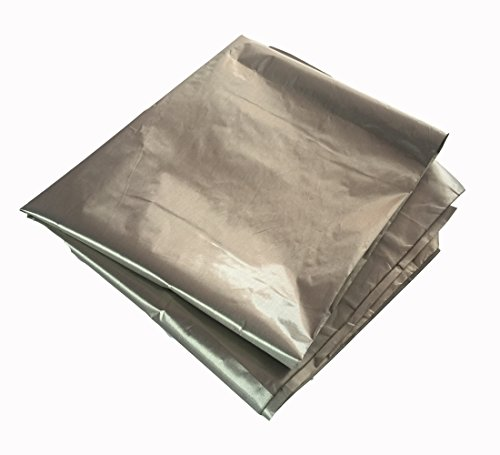 Jwtextec Conductive Fabric Emi Shielding Plain Style Copper Nickel Coating Fabric  39 37X19 685 Inches 1Mx0 5M