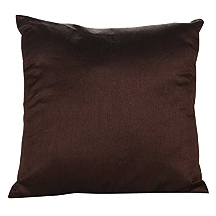 Dark Brown Throw Pillows.Buy 22x22 Inch Dark Brown Set Of 2 Dark Brown Art Silk