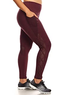 02b26861d7e Yii ouneey Women s Plus Size Leggings with Pockets Yoga Workout ...
