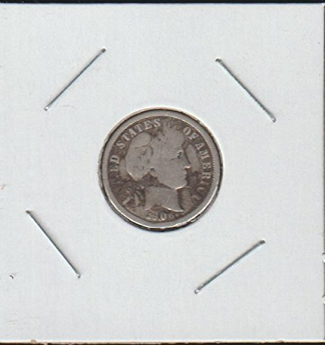 1906 D Barber or Liberty Head (1892-1916) Dime Choice Extremely Fine