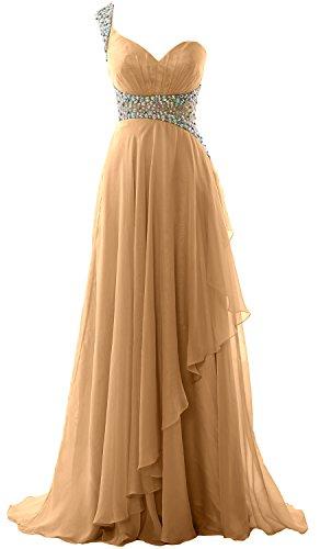 MACloth Elegant One Shoulder Chiffon Long Prom Dress 2018 Formal ...