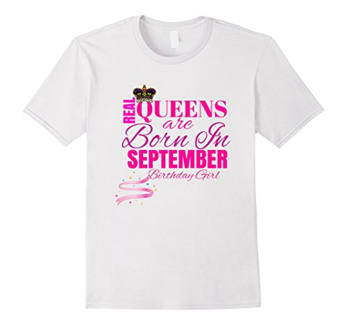 Mens Cute: Real Queens Are Born In September Birthday Gir...