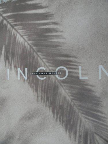 2001 Lincoln Continental Sales Brochure