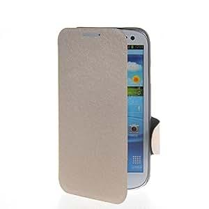 SHOPPINGBOX Cartera Funda Carcasa Caso Cuero Tapa Flip Case Cover Para Samsung Galaxy S3 I9300 Beige