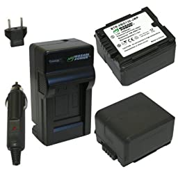 Wasabi Power Battery and Charger Kit for Panasonic DMW-BLA13, DMW-BLA13E, VW-VBG130, VW-VBG130E, VW-VBG130K, VW-VBG130PP, DMC-L10, HDC-HS250, HDC-HS300, HDC-HS700, HDC-SD10, HDC-SD600, HDC-SD700, HDC-SDT750, HDC-TM10, HDC-TM15, HDC-TM300, HDC-TM700, SDR-H