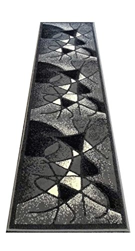 Modern Runner Rug Design # G24 Grey (2 Feet X 7 Feet) by Gallery