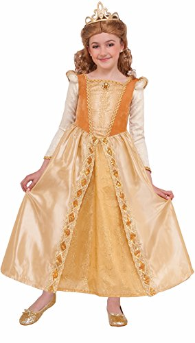 Forum Novelties Kids Regal Shimmer Princess Costume, Gold, Medium