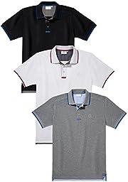 Mercedes Benz Men\'s Two-Tone Polo Shirt (XL, White)