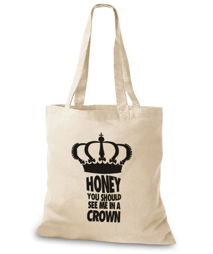 StyloBags Jutebeutel / Tasche Honey you should see me in a crown Natur Lxdv8NGQuJ