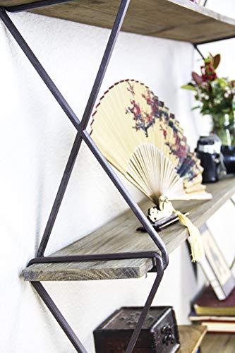 Avignon Home Rustic Wood Floating Shelves - Wall Storage Shelves for Living Room, Bedroom, Bathroom, Kitchen - Wall Mounted Hanging Shelves - Vintage Style Shelf Décor by Avignon Home (Image #7)