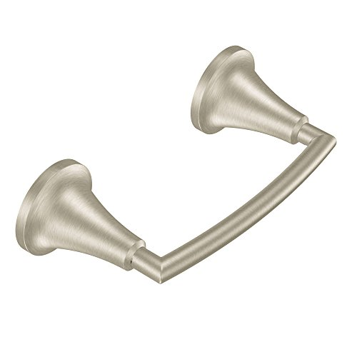 Moen YB5808BN Icon Pivoting Paper Holder, Brushed Nickel by Moen