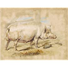 Oil painting 'Sir Edwin Landseer,A Sow,1820' printing on high quality polyster Canvas , 12x15 inch / 30x39 cm ,the best Wall art decoration and Home decoration and Gifts is this Replica Art DecorativeCanvas Prints