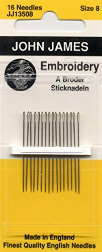 Crewel/Embroidery Hand Needles-Size 8 16/Pkg