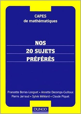 Capes de mathématiques, nos 20 sujets préférés pdf