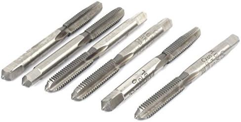 Aexit 6 Stück 6mm HSS 4 Flöten Gerade Gewinde Metrische Gewindebohrer M6x1.0mm (730cccc43a5ba6e102fb53c210e4ea6e)