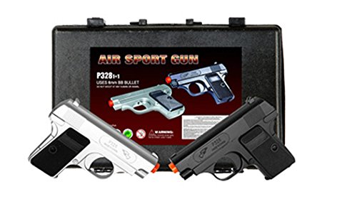 CYMA New TWIN AIRSOFT DUAL SPRING PISTOL Combo Pack Hand Gun Set w/Case 6mm BB