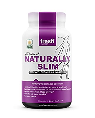 ORGANIC - Naturally Slim Womens Weight Loss Supplement and Fat Burner Pills - Best for Natural Weight Loss - CCOF Organic Certified - Non GMO - Vegan - Gluten Free - Made in the USA