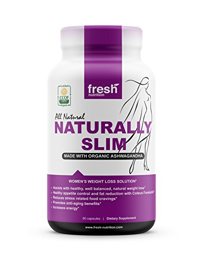 ORGANIC – Naturally Slim Womens Weight Loss Supplement and Fat Burner Pills – Best for Natural Weight Loss – CCOF Organic Certified – Non GMO – Vegan – Gluten Free – Made in the USA 60 Caps