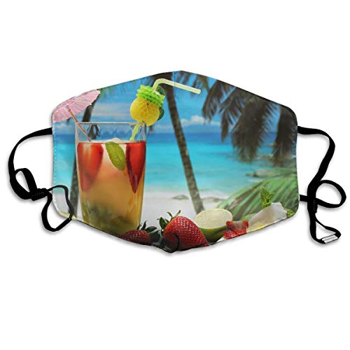 (Lojaon Reusable Face Mouth Cover Mask - Windproof Respirator Fruity-cocktail-2880x1800-photography-wallpaper Print Earloop)