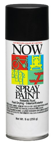 Now Fast Dry Lead-Free Spray Enamel, 9 oz Can, Gloss Black