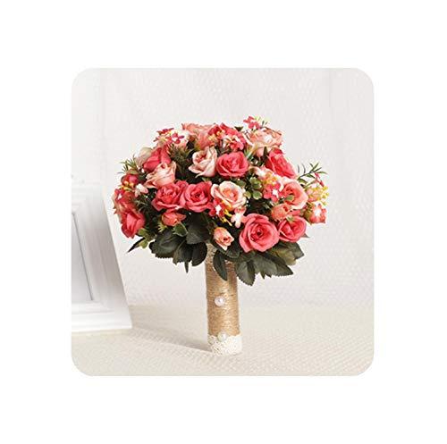 Encounter_meet Wedding Bouquet Handmade Artificial Flower Rose Bridal Bouquet for Wedding Decoration,07 ()