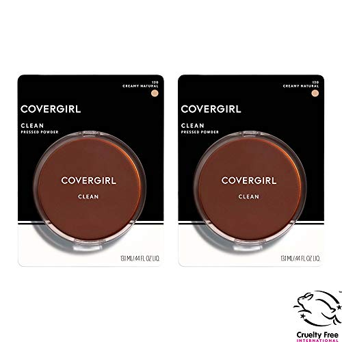 (Covergirl Clean Pressed Powder Foundation, Creamy Natural 120, 0.39 Fl Oz, 2 Count)